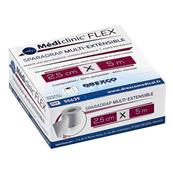 Pansement Médiclinic Flex Multi-Extensible 5 cm x 5 m